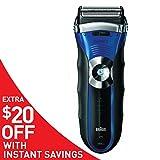Braun Series 3 380s Men's Electric Foil Shaver / Electric Razor, Wet & Dry, Black/Blue