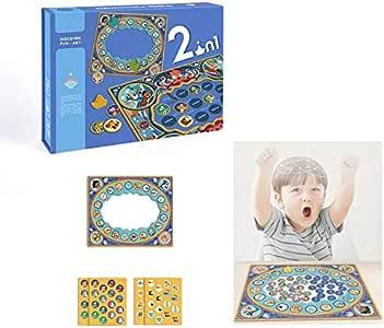 Mini Juego Mesa Juego, Juegos Mesa Foco en la Educación Juguetes interacción Entre Padres e Hijos Mesa Juegos Memoria para Puzzle Entrenamiento Crecimiento Intelectual,2 pc: Amazon.es: Hogar