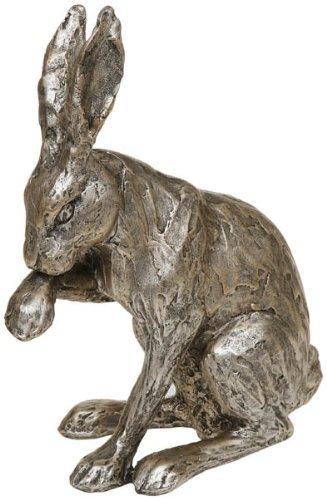 Leonardo collection Resin Reflections Bronzed Boxing Hares Stone 28 x 7 x 20 cm
