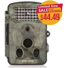 """Crenova Game and Trail Hunting Camera 12MP 1080P HD With Time Lapse 65ft 120¡ã Wide Angle Infrared Night Vision 42pcs IR LEDs 2.4"""" LCD Screen Scouting Camera Digital Surveillance Camera?"""