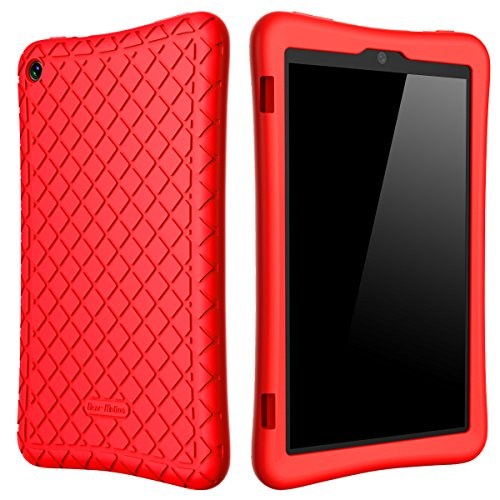 Bear-Motion-Silicone-Case-for-Fire-HD-8-2017---Anti-Slip-Shockproof-Light-Weight-Kids-Friendly-Protective-Case-for-Amazon-All-New-Fire-HD-8-Tablet-with-Alexa-7th-Gen-2017-Model-Red