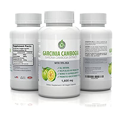 High Impact Garcinia Cambogia Supplements with Garcinia Cambogia Extract 1600mg, 70 HCA & Potassium for Fast & Healthy Weight Loss, All Natural, Blocks Fat Build up, Reduces Appetite (60 Capsules)