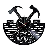 Vinyl Clock Pink Floyd - The Wall Vinyl Records Wall Art Handmade Decor - Best Vintage Gift For Men Women Kids Music Band's Fans - Original Home Room House Kitchen Bedroom Decoration