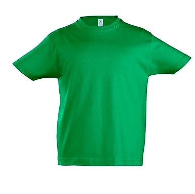 SOLS - Camiseta de Manga Corta - para niño Verde Verde 10 años ...