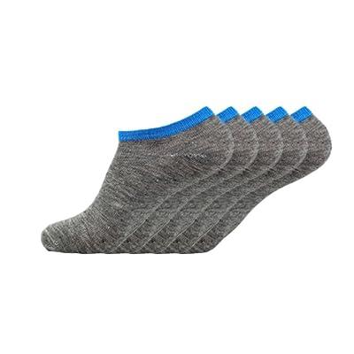 Joy Feel buy 5paires Hommes Chaussettes Uni Chaussette Invisibilité respirante confortable Chaussettes Chaussette en coton (Gris)
