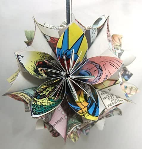 Picture Of Diy Origami Ornaments: Amazon.com: X-Men Comic Book Origami Christmas Tree