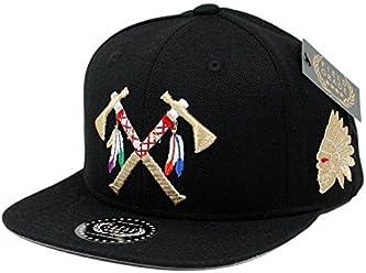 FIELD GRADE Crossed Tomahawks Leather Snapback 5e3cfb0ad2b7