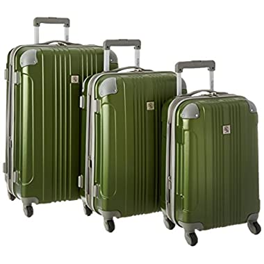 Traveler's Choice Beverly Hills Country Club Newport 3-Piece Hardside Spinner Set, Green