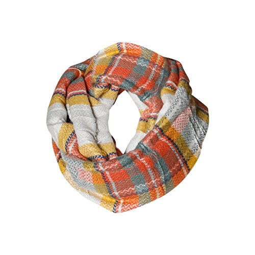Funky Monkey Flannel - Women Infinity Autumn Blend Plaid Scarf Funky Monkey Fashion Warm Cozy Scarves