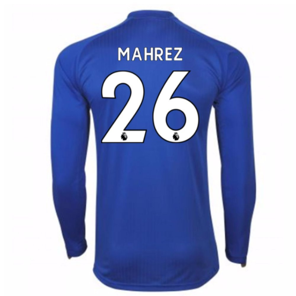 2017-18 Leicester City Home Long Sleeve Shirt (Mahrez 26) B07847ML6BBlue Large Adults