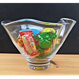 Retro Style Clear Handmade Glass Handkerchief Fruit Sweets Bowl 13/19 cm by Solavia