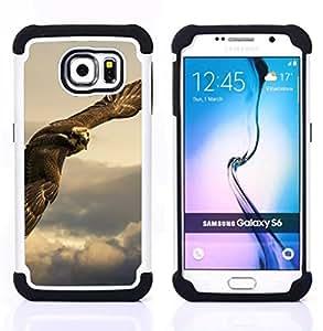 - owl hawk predator hunting bird prey/ H??brido 3in1 Deluxe Impreso duro Soft Alto Impacto caja de la armadura Defender - SHIMIN CAO - For Samsung Galaxy S6 G9200