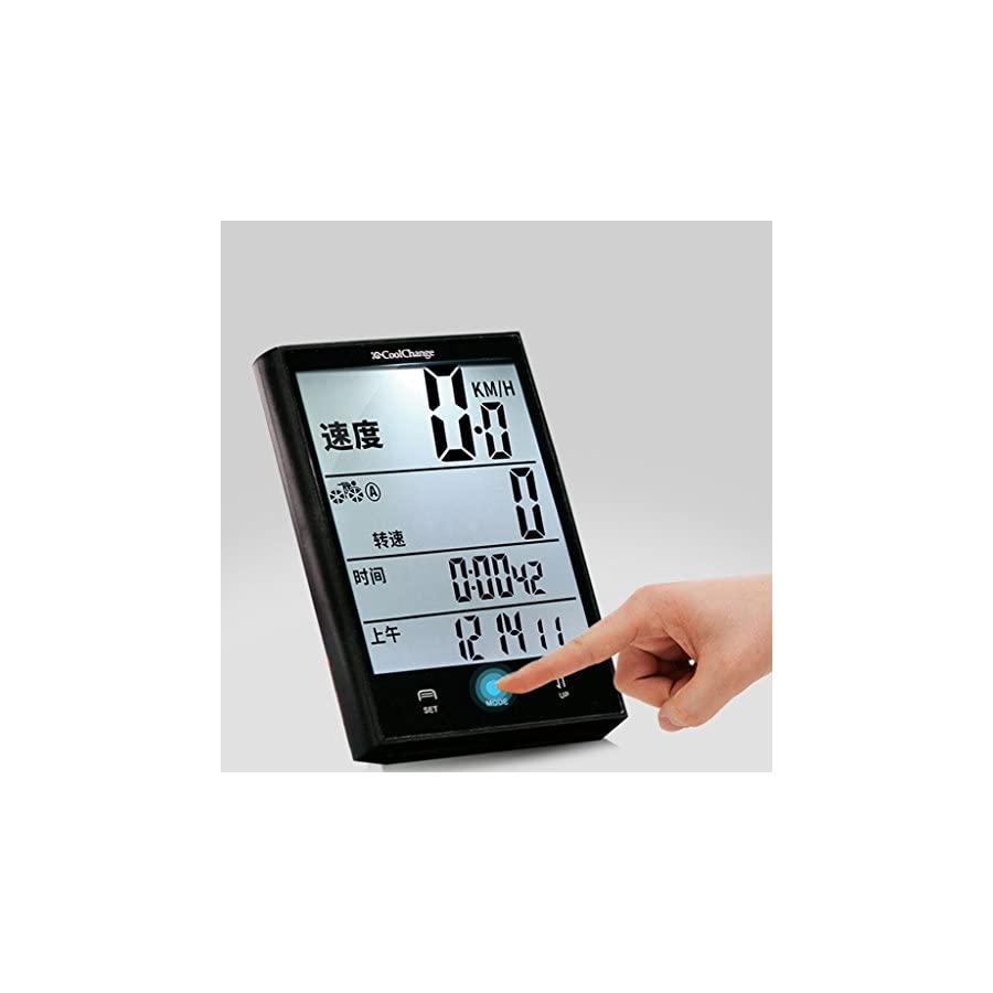 ULKEMEBikes Computer Waterproof Wired Speedometer Multifunction LCD Cycling Odometer