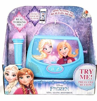 Disney Frozen Sing Along Boombox Real Working Mic Connect your MP3