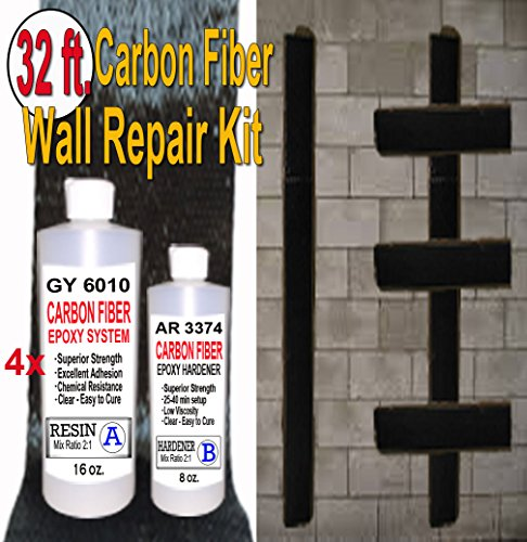 32 ft-Carbon Fiber-Basement Wall Crack Repair Kit by Carbon Fiber