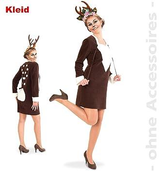 Gurimo Tex Gmbh Kostum Rehlein Reh Kleid Damen Fasching Karneval