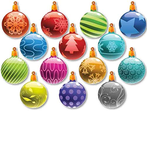 Victory Store Yard Sign Outdoor Lawn Decorations: Outdoor Hanging Christmas Ornaments Decorations Set of 14 (Not Lighted)