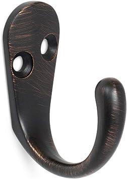 2 Prong Coat Rack Hook Hardware Set 5 Pack of Coat Hooks Oil Rubbed Bronze Classic Design