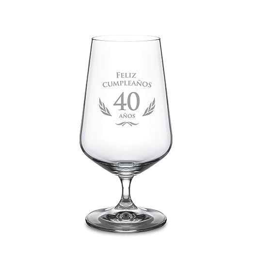 AMAVEL - Copa de Cerveza para el 40 Cumpleaños - Cervezas ...