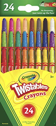 Crayola Mini Twistables Crayons, 24 Classic Crayola Colors Non-Toxic Art Tools for Kids & Toddlers 3 & Up, Great for Kids Classrooms or Preschools, Self-Sharpening No-Mess Twist-Up ()