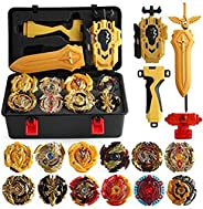 XIXI-POPOMT 12 Pcs Bayblades Burst Turbo Gyros Top Evolution Metal Fusion Bay Blade Battle Gyro Battling Tops