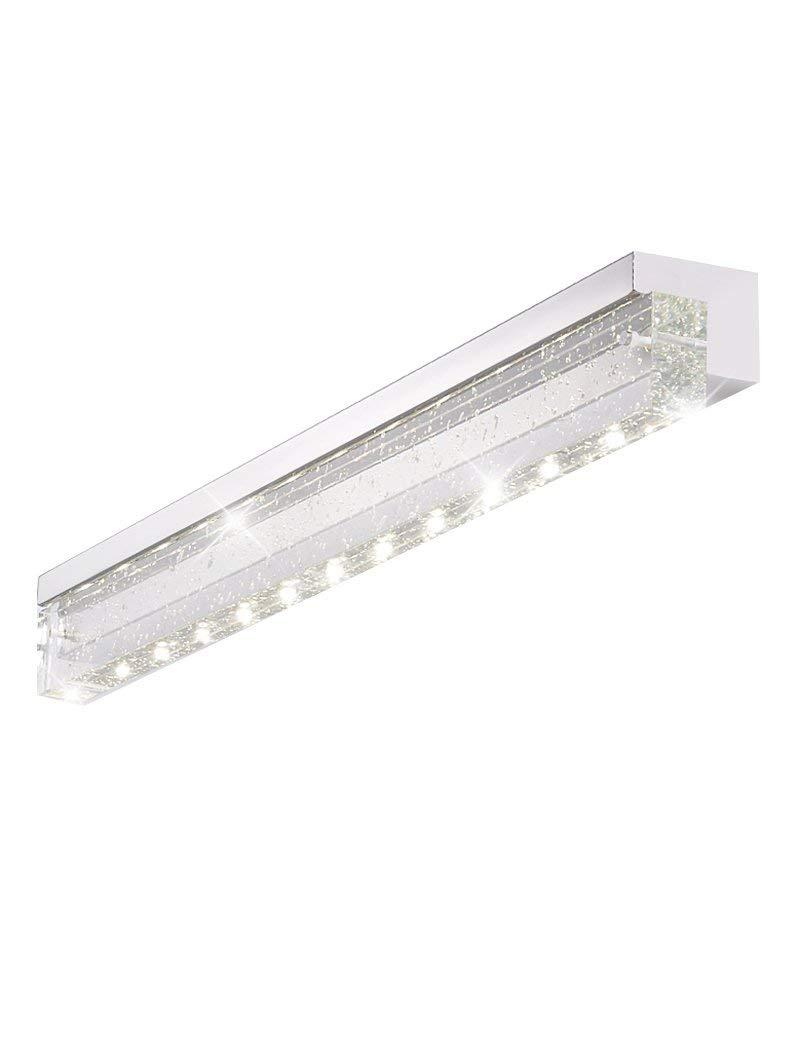 FXING Badezimmerspiegel Leuchten - LED Crystal wasserdicht Edelstahl Spiegel Vordere Scheinwerfer, eine Moderne, minimalistische Badezimmer Kosmetikspiegel vordere Scheinwerfer - Make-up-Spiegel Sche
