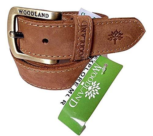 Woodland Men's Leather Belt (Camel   Size 32)