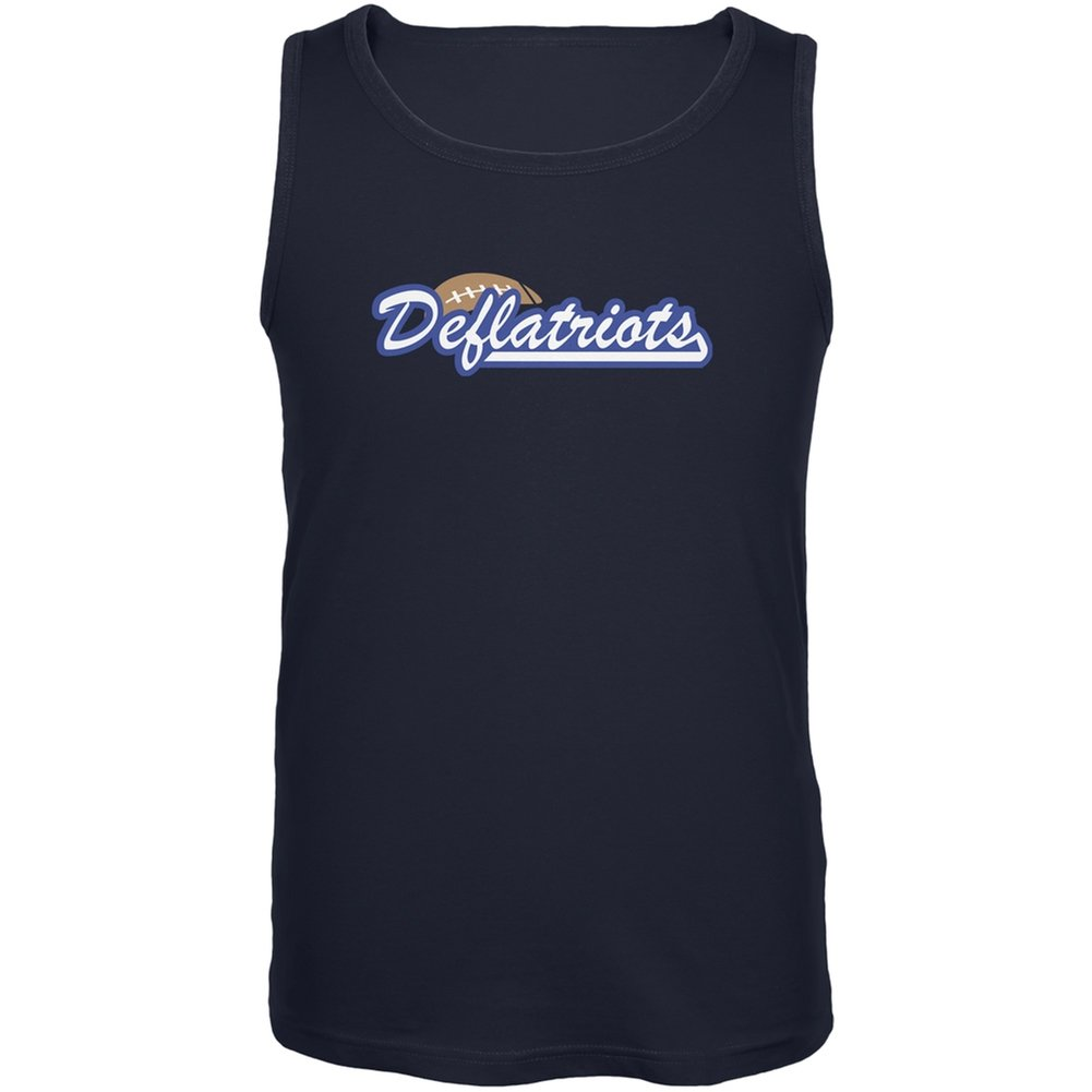Old Glory New England Deflatriots Navy Adult Tank Top
