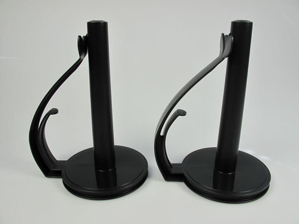 Tupperware 31569 Lot de 2 porte-rouleaux essuie-tout Noir