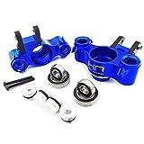 Hot Racing RVO21XG06 Aluminum Axle Carriers w Bearings & Carbon Arms (blue) - T