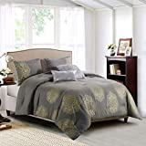 Curated Home Ginette 5-Piece Printed & Reversible Comforter Set, King
