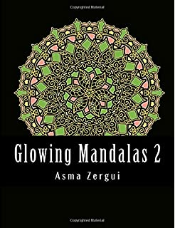 Glowing Mandalas 2 Adult Coloring Book With Black Pages Volume