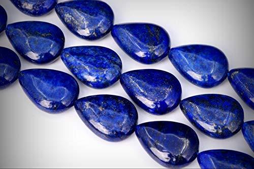 - Approx. 20 Beads Lot - 20x15mm Deep Blue Lapis Lazuli Teardrop Color Grade AAA Loose Jewelry Making Beads 15.5