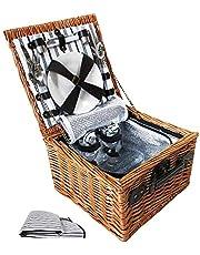 Alfresco 2 Person Picnic Basket - Black