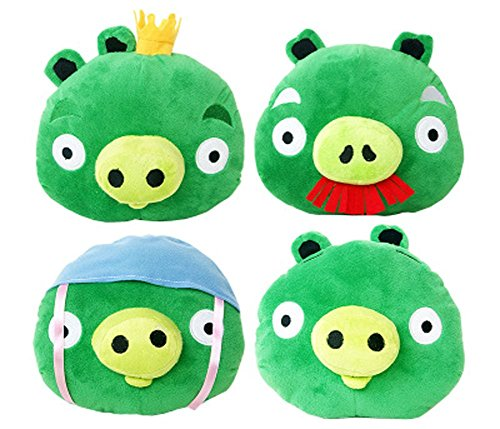 E.a@market Green Skin Pigs Plush Toy 4pcs