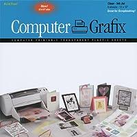 Grafix Clear Inkjet Film, 12-Inch by 12-Inch, 6-Pack