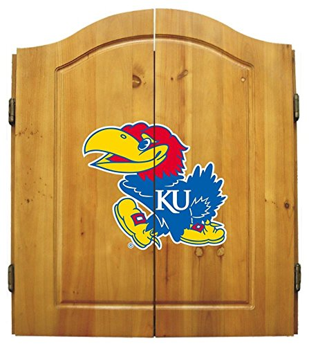 Imperial NCAA Dart Cabinet Set - University of Kansas by Team Bar Stools