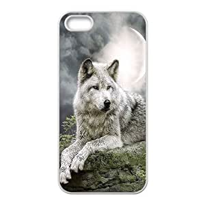 YNACASE(TM) Wolf and Moon New Print Phone Case for iPhone 5,5G,5S,Personalized Case with Wolf and Moon