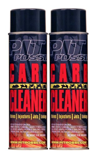 Pit Posse PP3234-2 2 15 Oz Cans Of Carb Carburetor Cleaner Motorcycle ATV Dirt Bike Made In USA