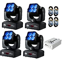 (4) ADJ Products Inno Pocket Z4 LED Lighting. With 4 DMX Cables and 1 Chauvet Xpress 512.