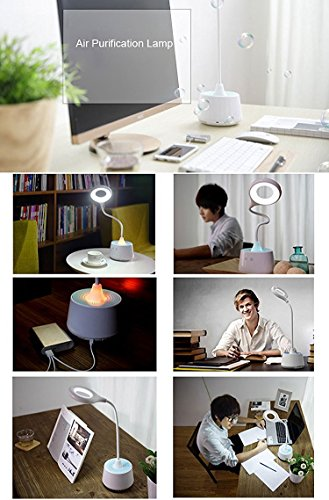 BriteLeafs 3-in-1 Air Purifier Ionizer / LED Desk Lamp / Night Light - cordless, rechargeable (White) by BriteLeafs (Image #3)