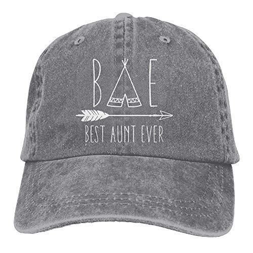 Best Aunt Ever Bae Auntie Dad Hat Adjustable Denim Hat Classic Baseball Cap -