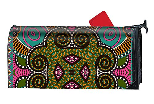 Michael Trollpoe Paisley Floral Print - Mailbox Makeover Cover - Decorative Wrap with Magnetism for Standard Mailbox