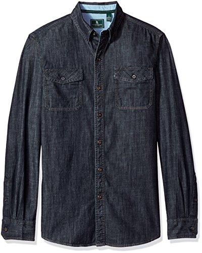 [해외]H. 베이스 & amp; 주식 남자의 필수 더블 포켓 질감 긴 소매 셔츠/G.H. Bass & Co. Men`s Essential Double Pocket Textured Long Sleeve Shirt