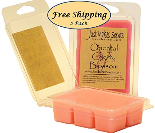 2 Pack - Oriental Cherry Blossom Scented Wax Melts by Just Makes Scents