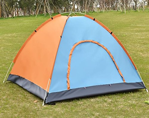 K&A Company Colorful Waterproof Camping Tent Outdoor Hiking 2-3 Persons Orange New Lightweight by K&A Company