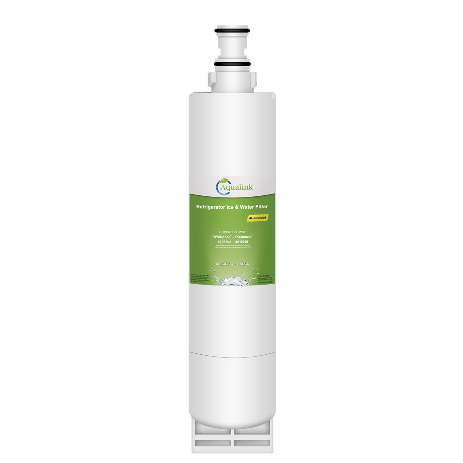 Aqualink 4396508 Refrigerator Water Filter Replacement for Whirlpool Water Filter 4396508, 4396510, EDR5RXD1, EveryDrop Filter 5, NLC240V, PUR W10186668, Kenmore 46-9010 (1 Pack)