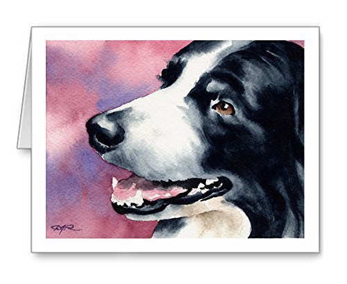Border Collie - Set of 10 Note Cards With Envelopes ()