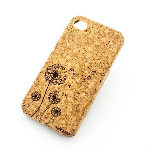 Cork Case Snap On Cover skin for Apple IPHONE 6 (4.7'') - ''Dandelion'' joy freedom youth be free luck magic by Milkyway Body Jewelry