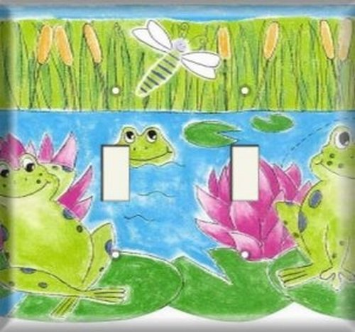 Double Switch Plate - Froggy Bog